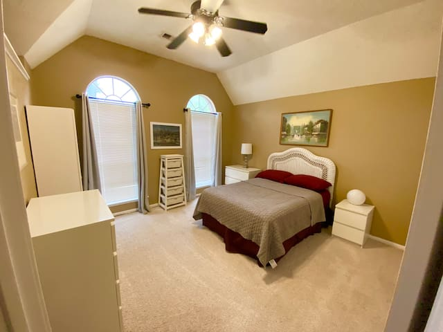 3rd bedroom with a full size bed upstairs.