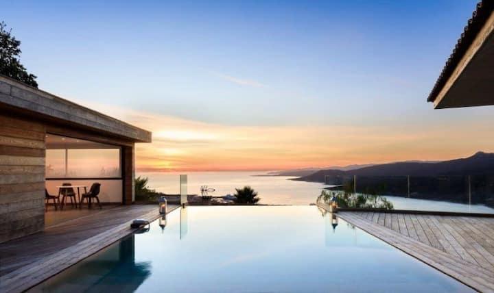 Villa d'architecte 8 personnes vue exceptionnelle