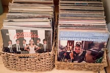 Maybe you'd enjoy picking out your favorite songs from our eclectic vinyl collection? Maybe Ray Charles or Miles Davis?