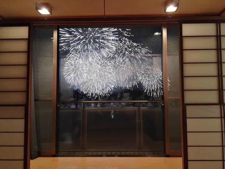 201室4人~、熱海駅徒歩5分、天然温泉無料、目の前に熱海城。素晴らしい眺め!
