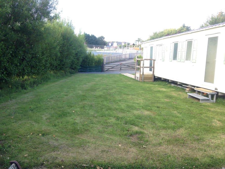 Sun trap private garden.