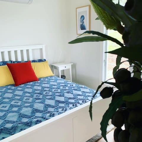 Relaxing bedroom space