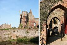 Pay a visit to the BREDERODE CASTLE (Ruin) in Santpoort-Zuid (at 6,4km from the Cottage); founded in the 13th century. Worth while a visit, if only for it's idyllic romantic setting, the lovely TEA GARDEN and magic open air Music concerts (in summer)
