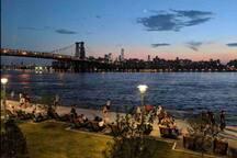 Domino Park views of Manhattan