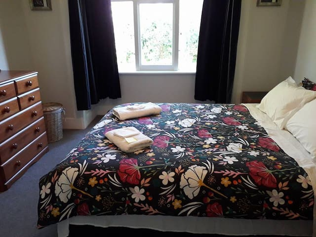 napier home close to town. one queen bed only
