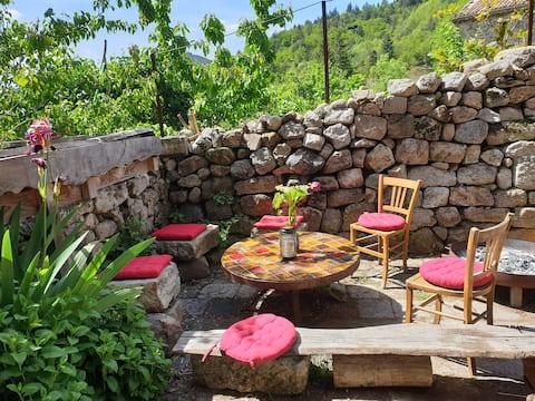 T1 au cœur de l'Ardèche cévenole, proche rivière.