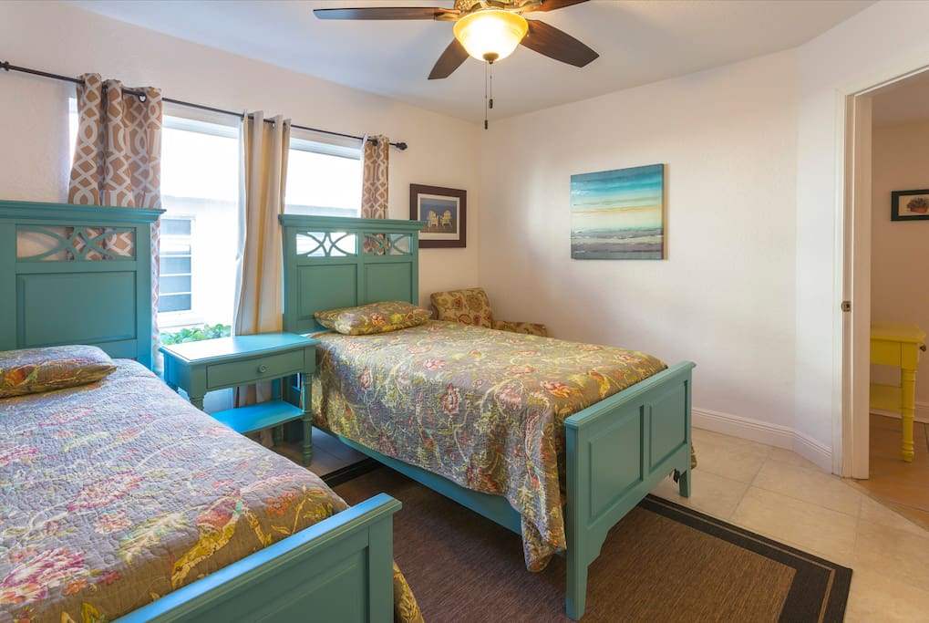 Another view of guest bedroom with twin beds
