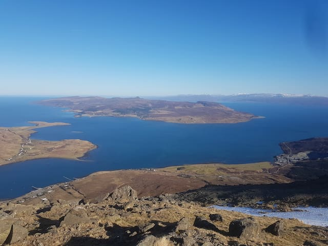 Sconser and the Isle of Raasay from Glamaig
