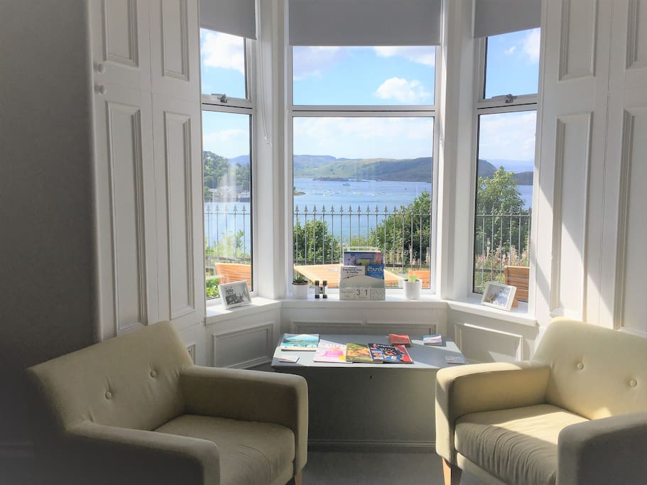 View from the guests sitting room