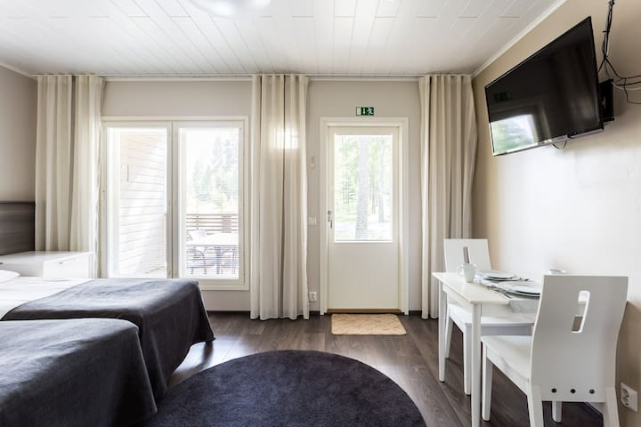 Double studio rooms with sauna and terrace