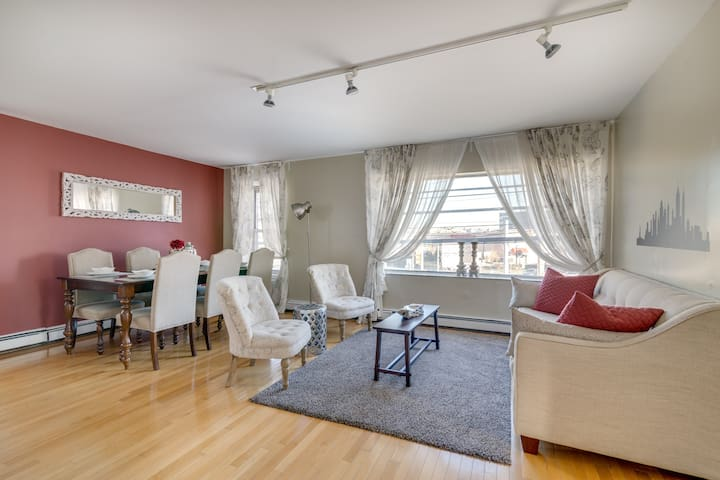 Relax in an elegant and comfortable living room after a long day of site seeing in Manhattan
