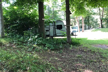 Brand new  camper on private waterfront property