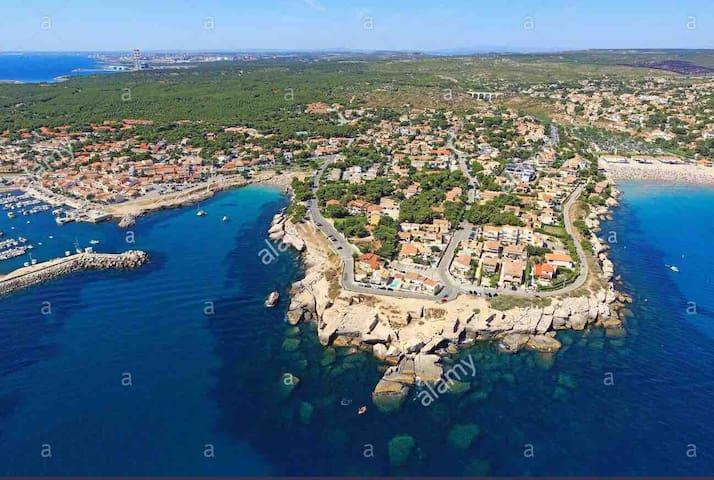 Cabanon mer et plage