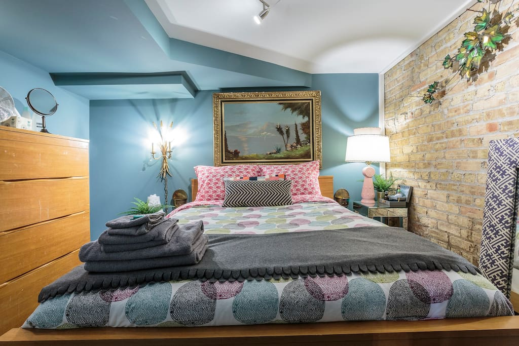 Note: this home was built in the 1800s! There is a low part in the ceiling of this lower level bedroom. You can see it in the pictures. If you are 6'2/6'3 or over, you will have to bend slightly.