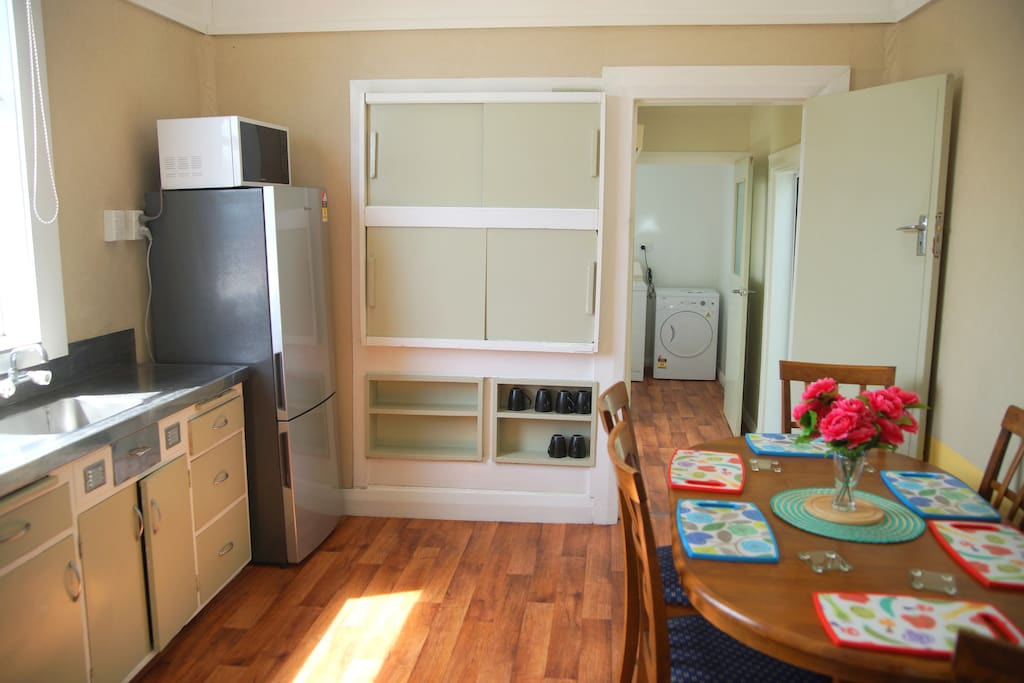 Shared kitchen and laundry