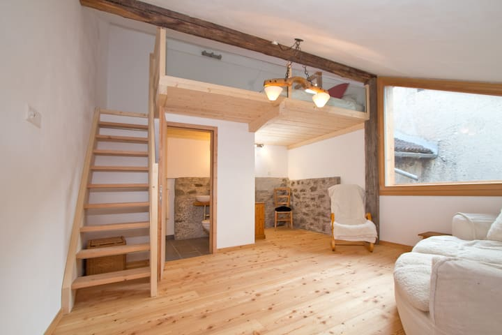 Studio for 2 + 1 in the beautiful Engadine valley - S-chanf - Lägenhet