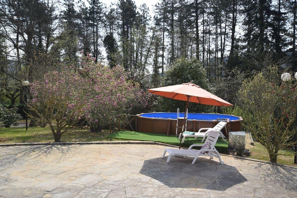 zona piscina e solarium