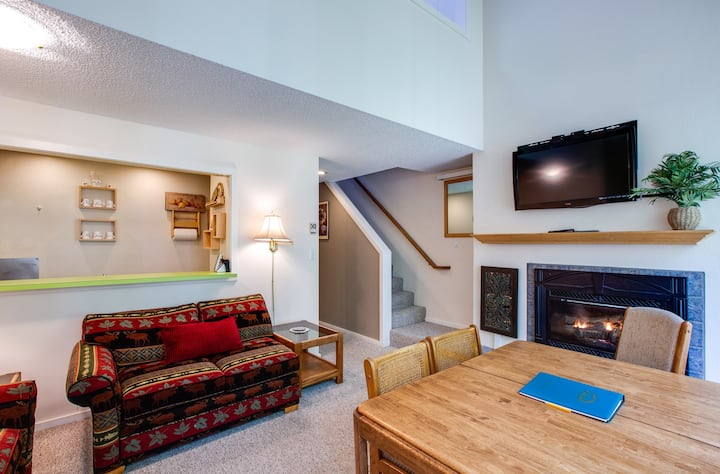 🎿Snowater Family Condo #38-FIREPLACE-D/W-W/D!❄️