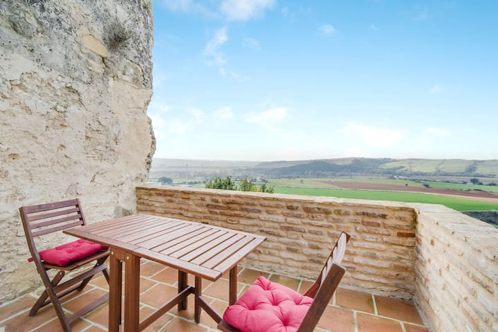 Rustic Apartment Cómpeta in Centre with Terrace, Amazing Views & Air Conditioning