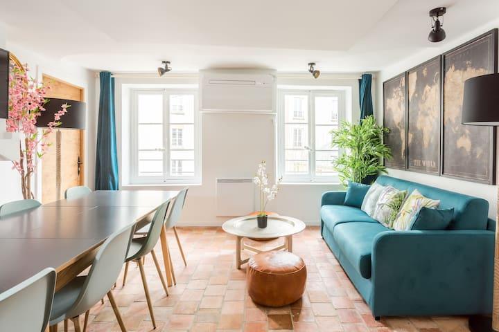 Logement familial du «Marais» chic et parisien