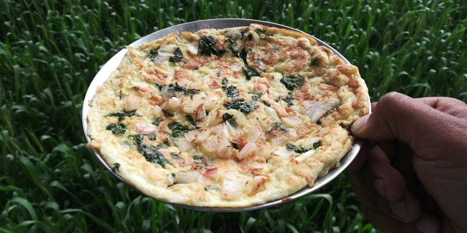 fresh cooked omelette