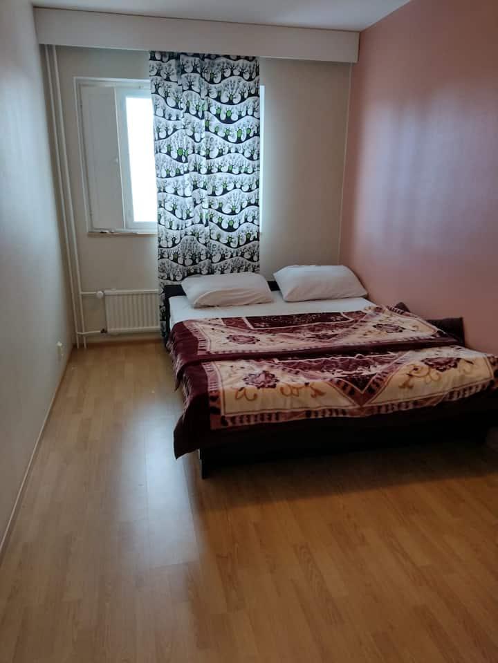 Private room in pietarsaari with a queen bed