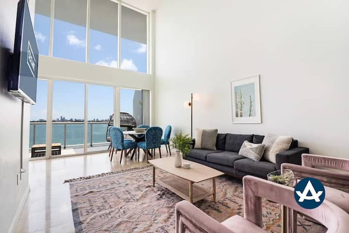 Sextant | 2-Story Waterfront Condo #2 | Heated Pool | 10 mins to Miami Beach