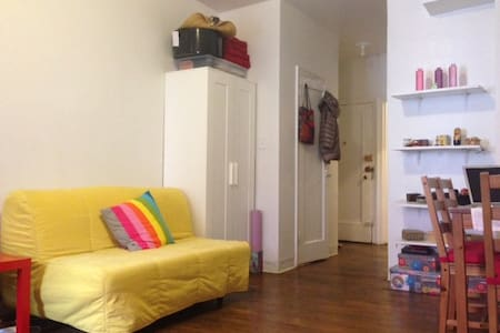 Amazing location in Manhattan's East Village. Clean, cozy, and comfortable studio for 1 person or for couples. Studio is close to many subways, bars, restaurants, museums, night life, theaters, and everything else NYC has to offer.