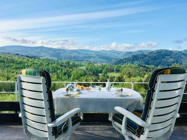 Luxury and breathtaking view over black forest