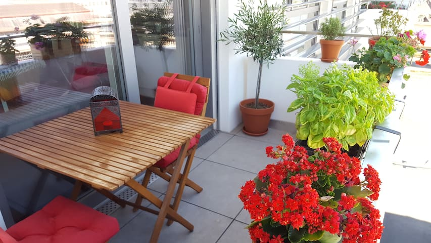 Shared apart - super central, balcony and view - Vevey - Lejlighed