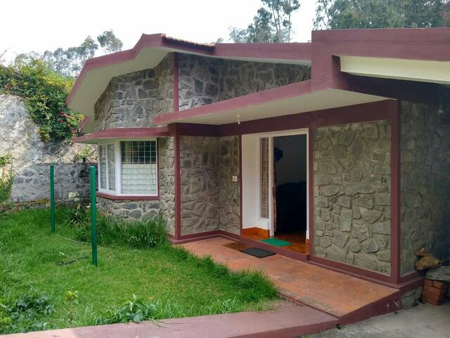A cozy cottage tucked high up in Kodaikanal.