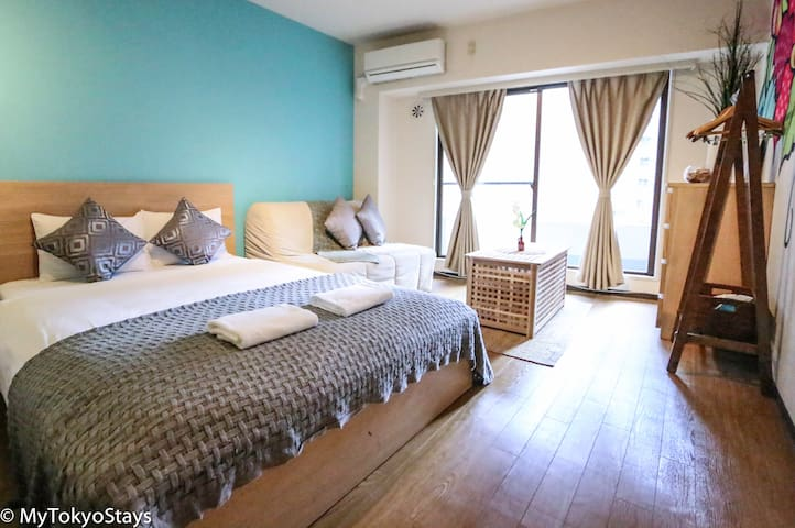 Today's Bright Flat in the Heart of Tokyo! 4 Pax
