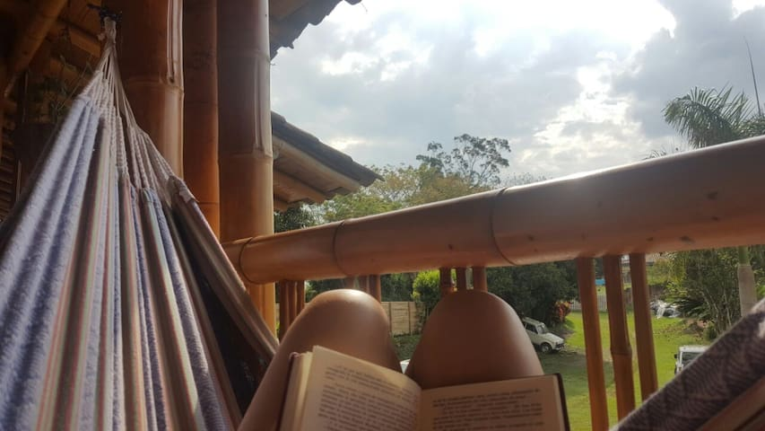 EL CORRALITO DE GUADUA / Hab. Triple - La Tebaida - Natuur/eco-lodge