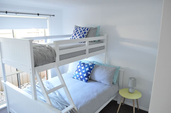 Triple bunk for the kids.