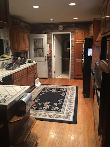 Our common kitchen and laundry inside door...