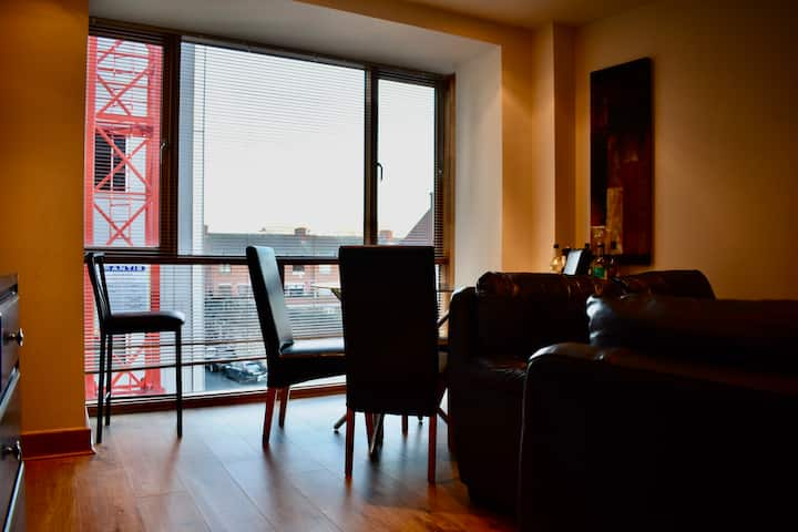 Spacious CHQ/IFSC/Grand Canal 2br 2 Bath Flat