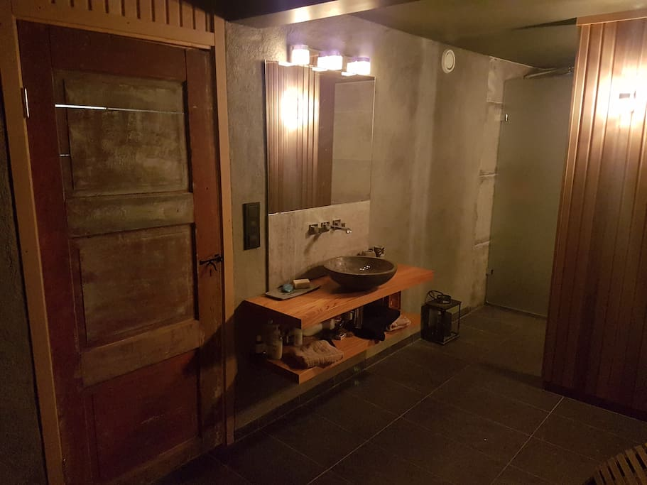 The Spa also features an heated floors and open rainfall shower.