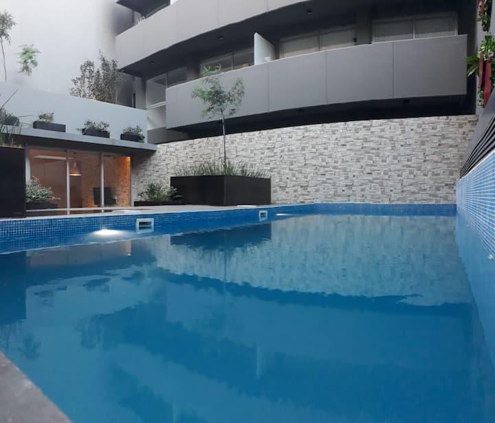 #BrandNew Studio ❤ Pool +Gym +Netflix [San Telmo]