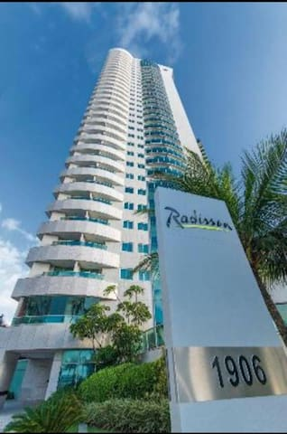 Flat beira mar Radissom Hotel
