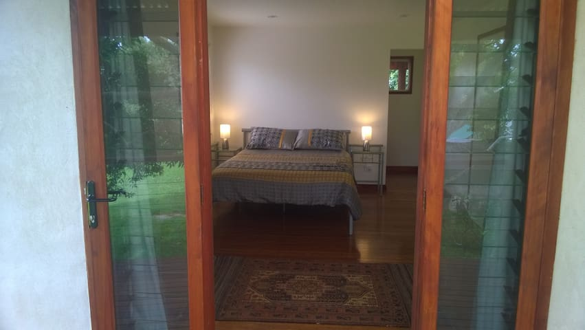 French doors from the bedroom directly onto the varendahs