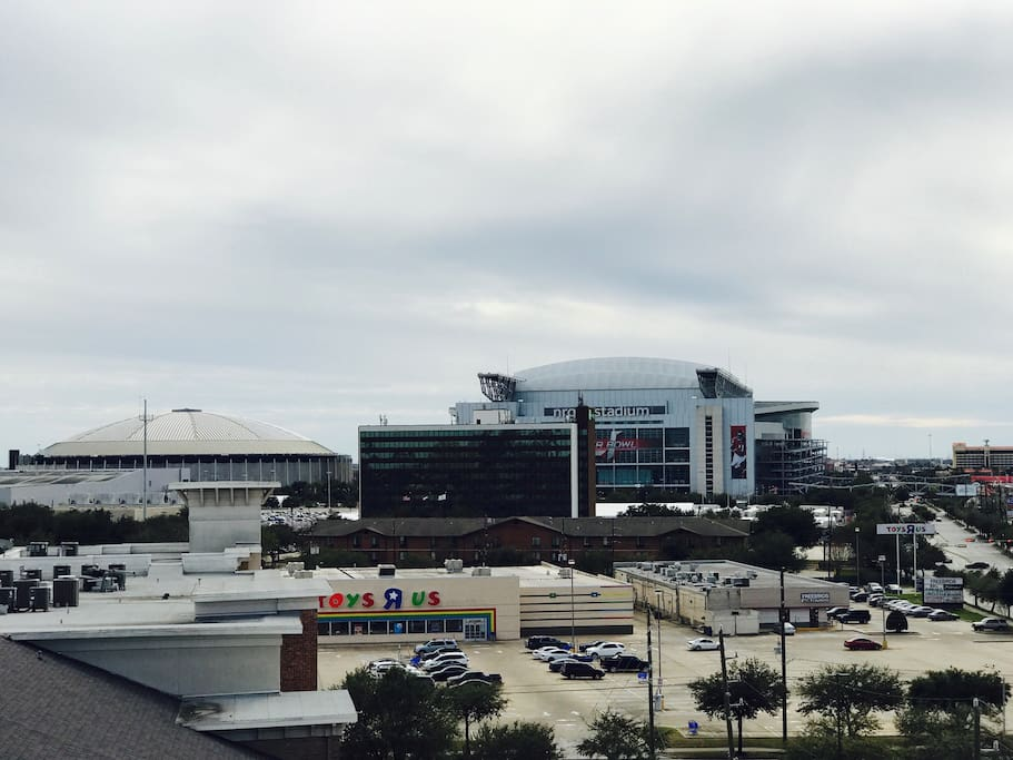Proximity to NRG Stadium as seen from top of complex