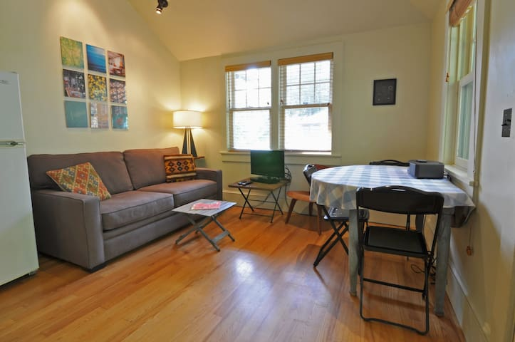 Secluded condo - steps to downtown - pet friendly