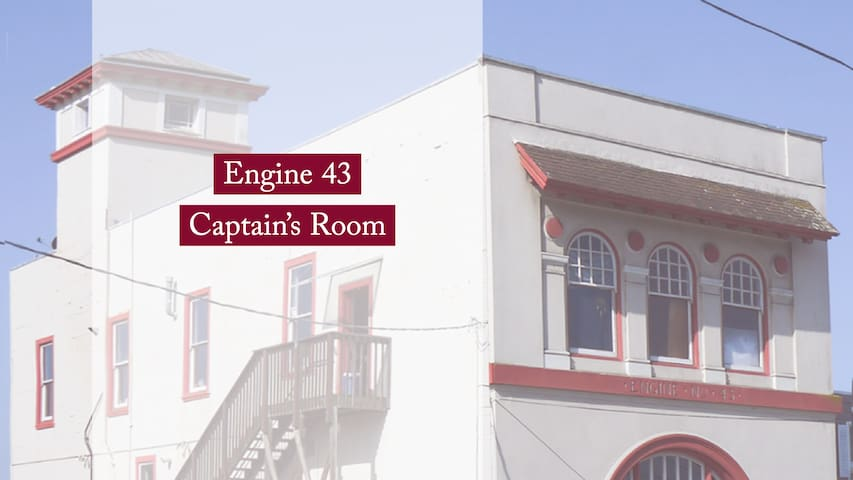 Captain's Room at Engine 43 firehouse + Parking
