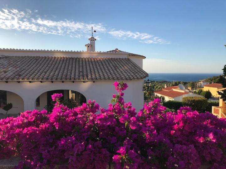 Magic Sea View Villa, 10/12p, Wifi, A/C, 2 Pools!