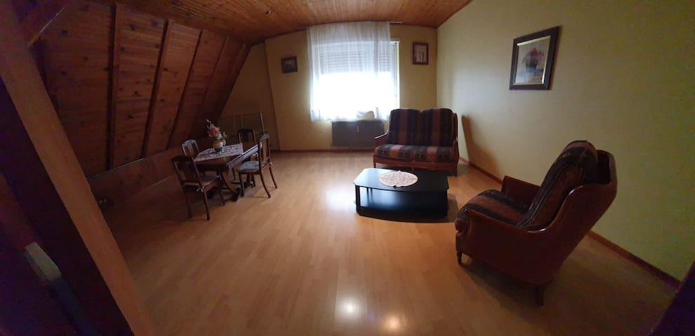appartement de 3 pièces-cuisine-s-d-b-wc-garage