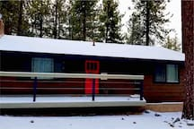 Front of Cabin: With Snow