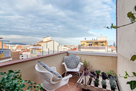 Rooftop flat with two terrace and cityview - Barcelona