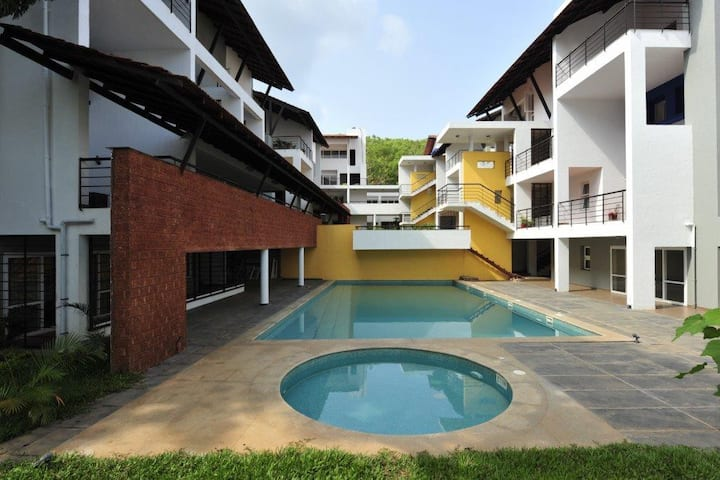 Quaint & peaceful  apartment near Candolim