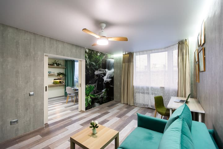 Eco apartments 55 sq.m 650 meters from Subway