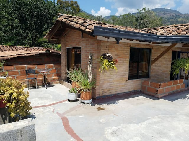 Two rooms up in the mountains close to Medellin